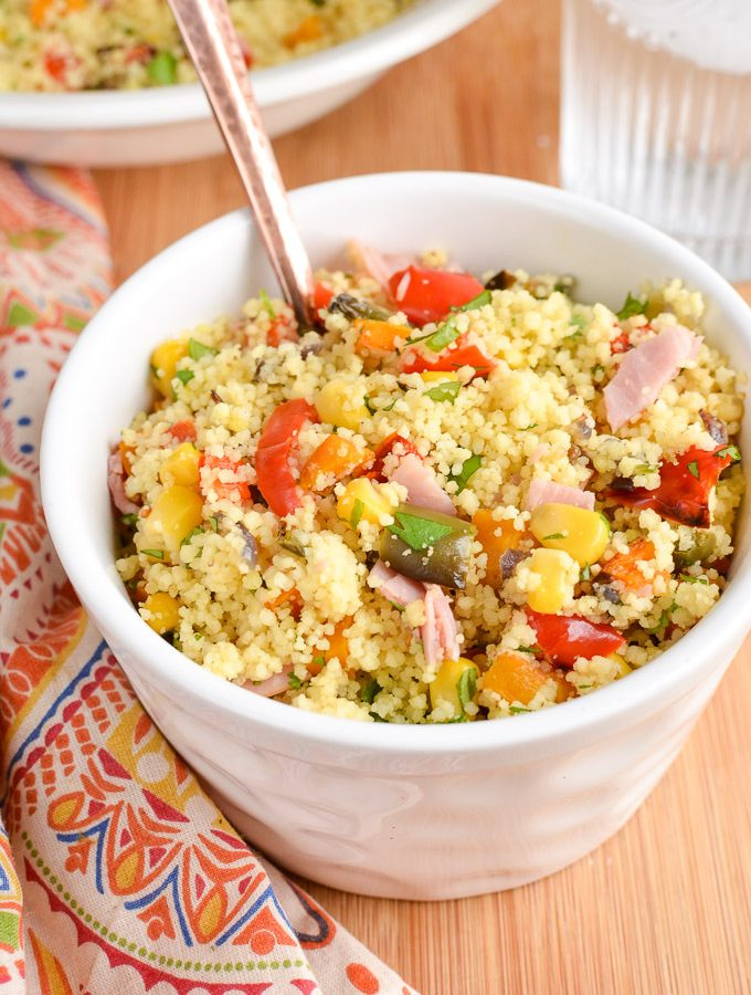 Roasted Vegetables and Ham Couscous