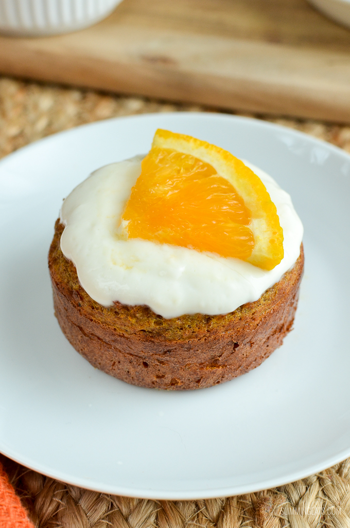 Slimming Eats Carrot and Orange Cake - vegetarian, Slimming World and Weight Watchers friendly