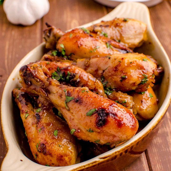 Honey and Garlic Chicken Drumsticks