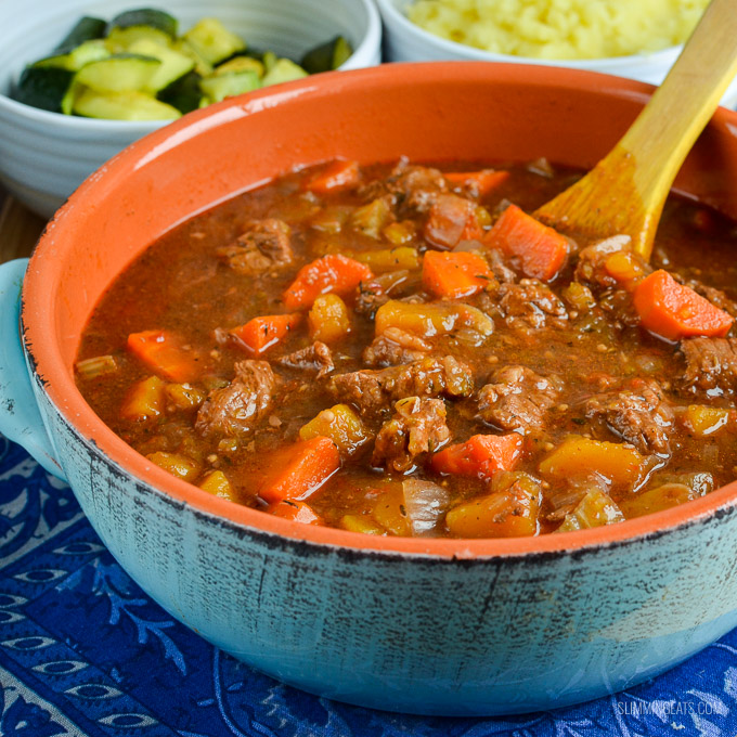 Slimming Eats Syn Free Beef and Vegetable Casserole - gluten free, dairy free, paleo, instant pot, slow cooker, Slimming World and Weight Watchers friendly