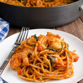 Syn Free One Pot Shrimp Pasta