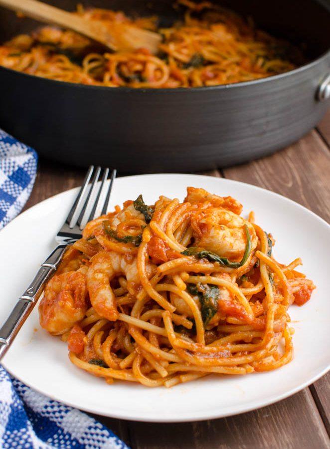 Syn Free One Pot Shrimp Pasta