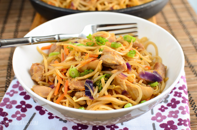 Slimming Eats yakitori chicken and noodles - gluten free, dairy free, Slimming World and Weight Watchers friendly