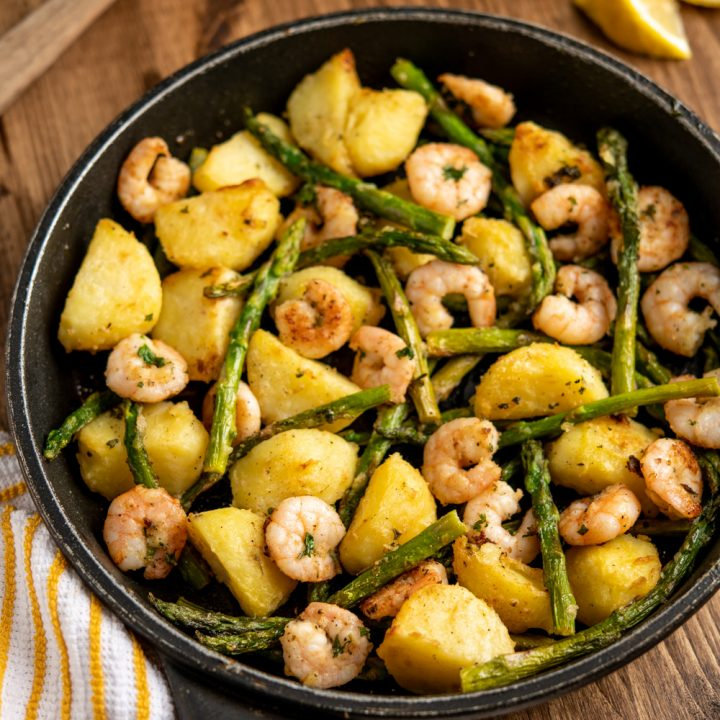 Warm Asparagus and Prawn Salad