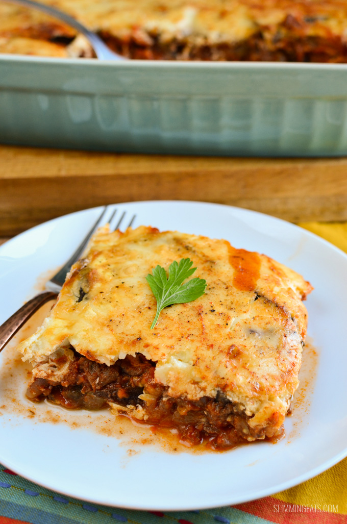 Slimming Eats Low Syn Moussaka - gluten free, Slimming World and Weight Watchers friendly
