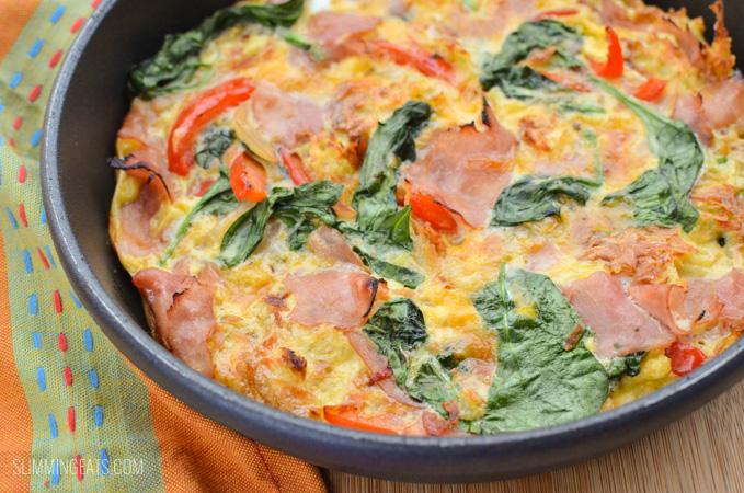 Slimming Eats Ham and Hashbrown Frittata - gluten free, dairy free, paleo, Slimming World and Weight Watchers friendly