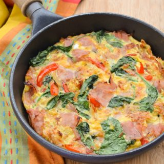 Ham and Hashbrown Frittata