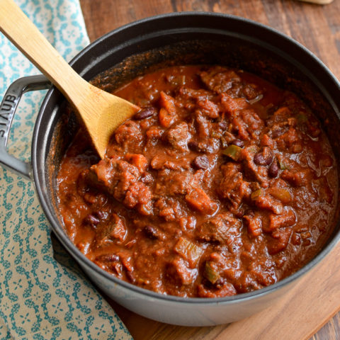 Beef and Roasted Butternut Squash Chilli