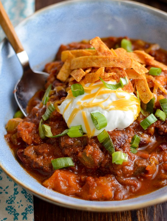 Syn Free Beef and Roasted Butternut Squash Chilli | Slimming World