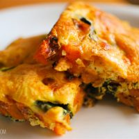 Syn Free Sweet Potato and Spinach Frittata