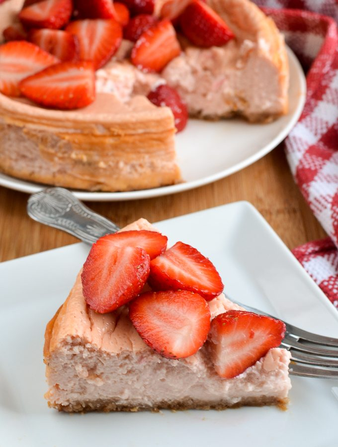Low Syn Baked Strawberry Cheesecake