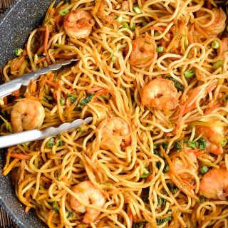 Low Syn Sweet Chilli Prawns and Noodles