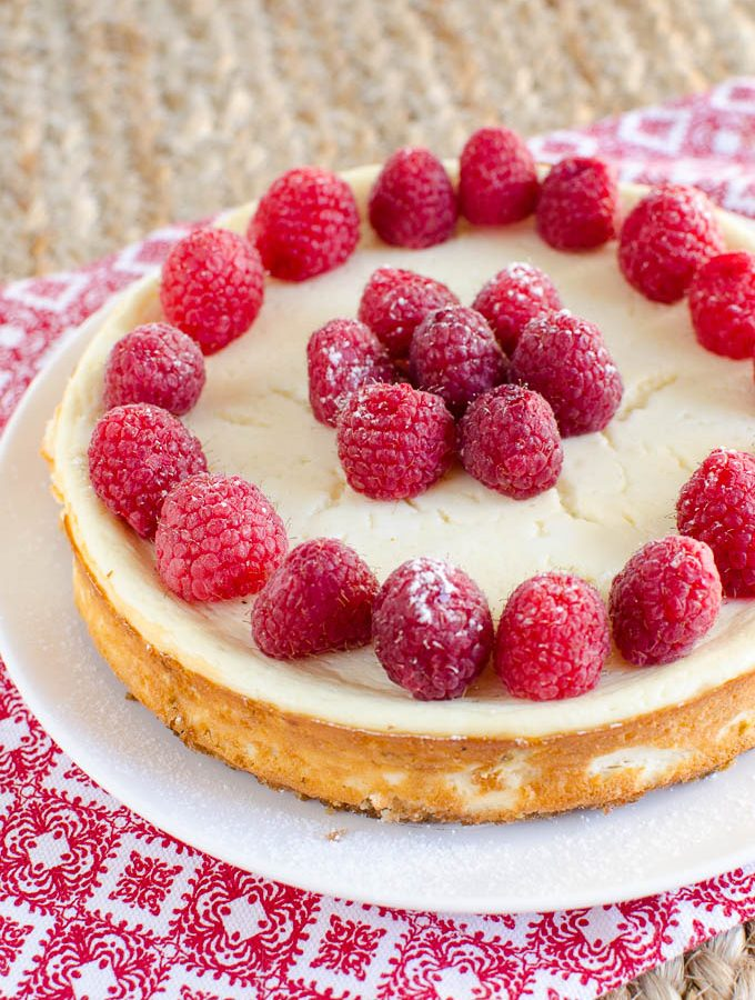 Low Syn Baked Vanilla Cheesecake
