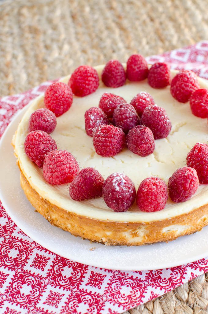 Slimming Eats Low Syn Baked Vanilla Cheesecake - gluten free, vegetarian, Slimming World and Weight Watchers friendly