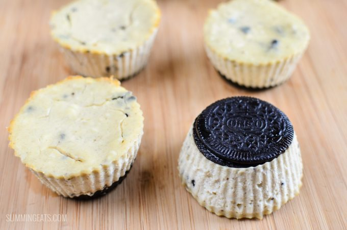 Low Syn Mini Oreo Baked Cheesecakes