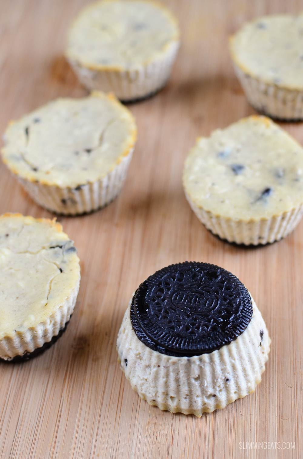 Slimming Eats Mini Oreo Baked Cheesecakes - vegetarian, Slimming World and Weight Watchers friendly