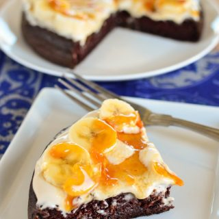 Low Syn Toffee Banana Chocolate Weetabix Cake