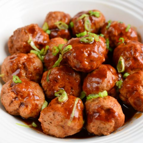 Low Syn Chicken Meatballs in Hoisin Sauce