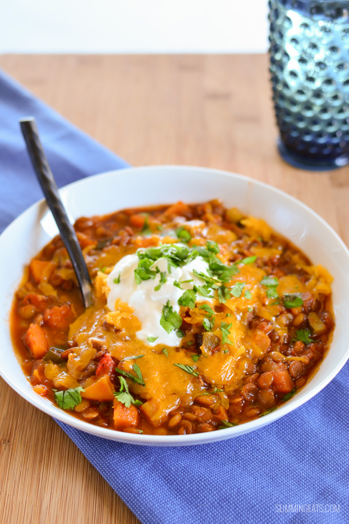 Sweet Potato Vegetable And Lentil Chilli