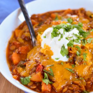 Syn Free Sweet Potato, Vegetable and Lentil Chilli