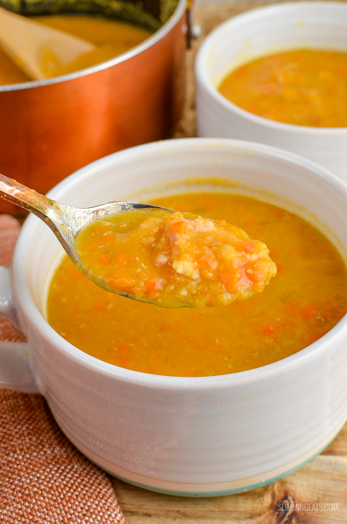 Slimming Eats Syn Free Split Pea and Bacon Soup - gluten free, dairy free, Slimming World and Weight Watchers friendly
