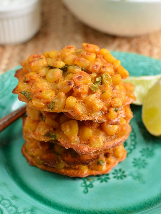 Low Syn Lime and Chilli Sweetcorn Fritters