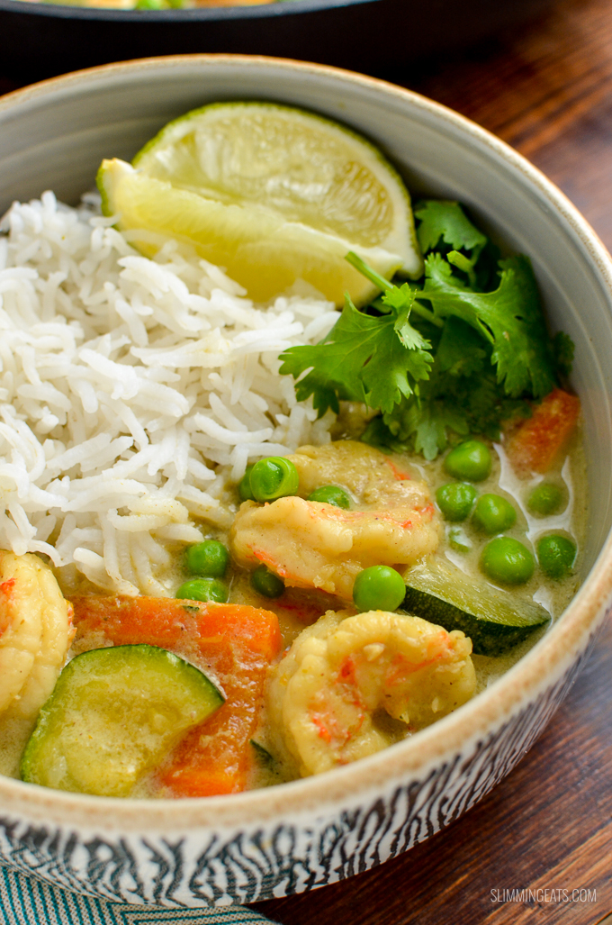 Low Syn Thai Green Prawn Curry Delicious Slimming World