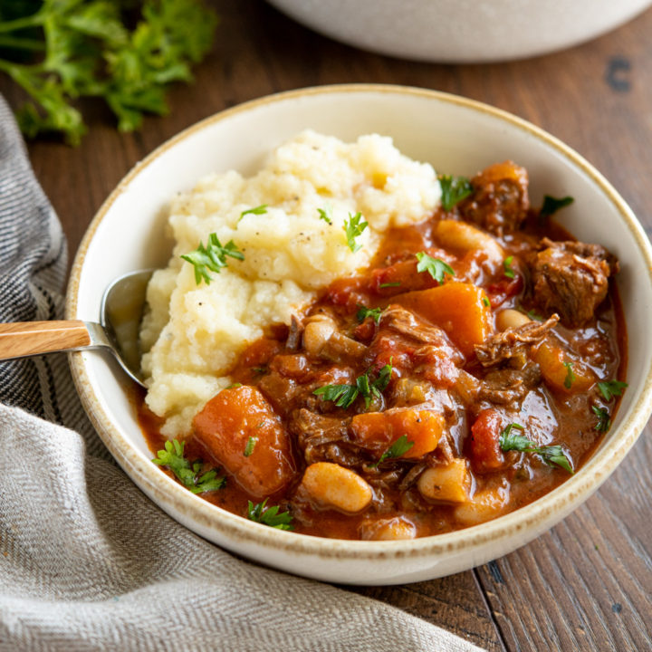 Tuscan Beef Casserole (Stove Top or Instant Pot)