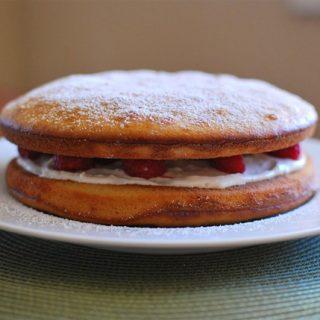 Raspberry and Lemon Sponge Cake