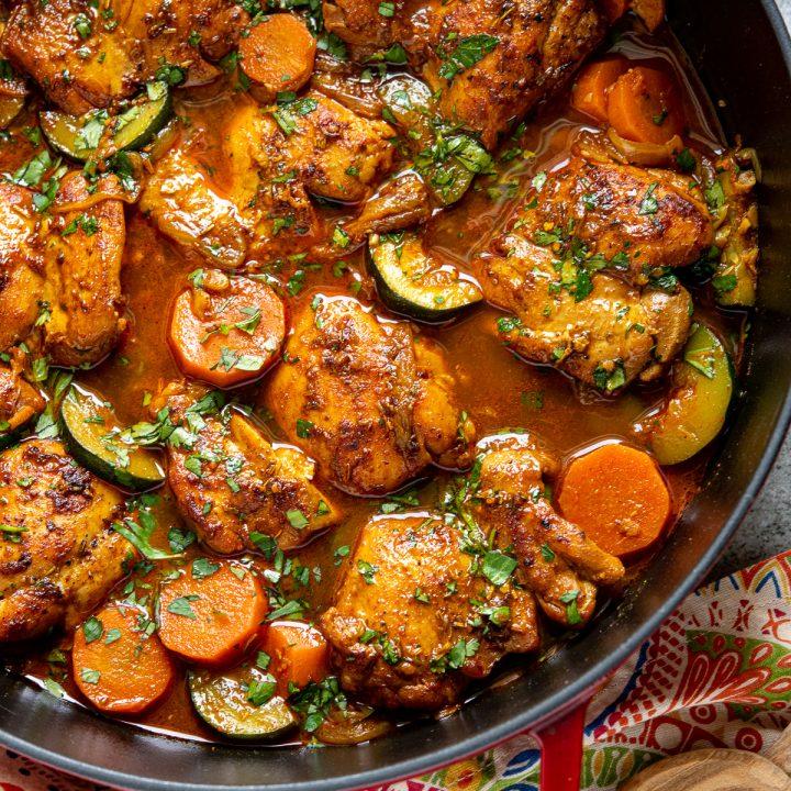 Delicious Moroccan Chicken Casserole