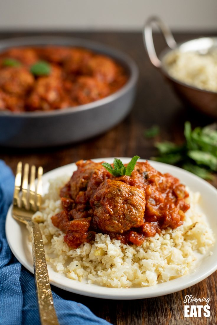 Lamb and Mint Meatballs in a Sweet and Spicy Sauce