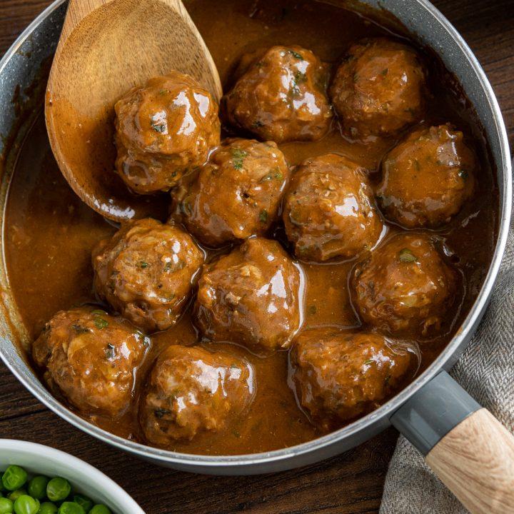 Lamb Meatballs with Mint Gravy