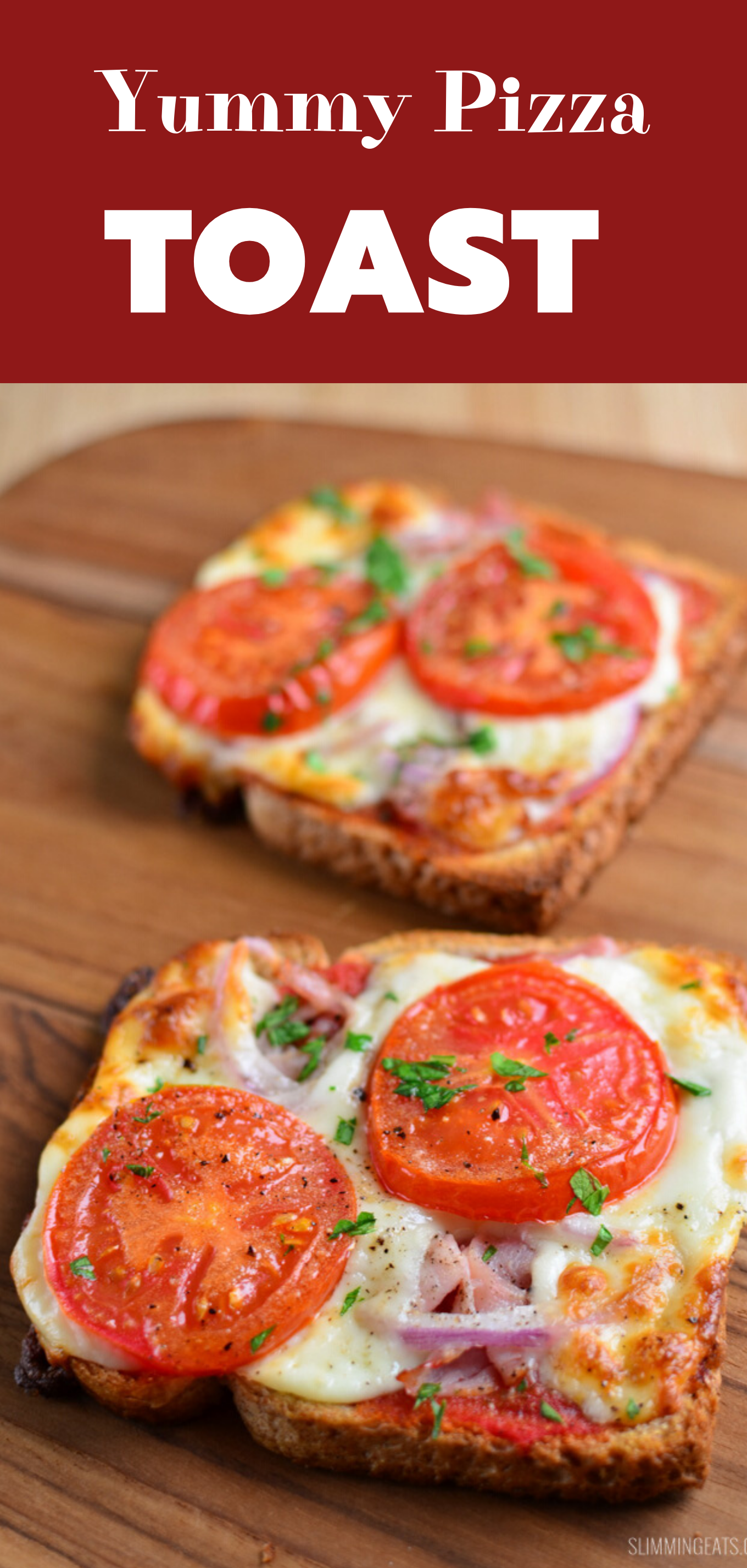 yummy pizza toasts featured pin image