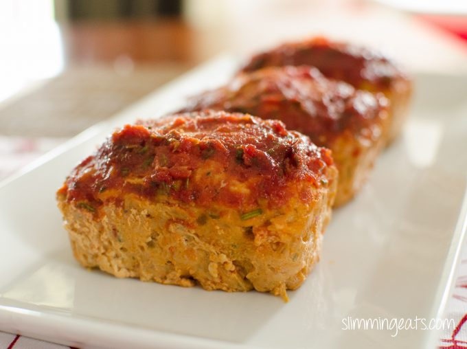 Delicious Single Serving Mini Chicken Meatloaves with Tomato and Rosemary Sauce, no need to worry about sharing with these. Only 0.5 syns on Slimming World. Gluten Free, Dairy Free, Paleo and Weight Watchers friendly