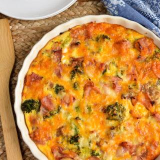 Syn Free Ham and Broccoli Quiche