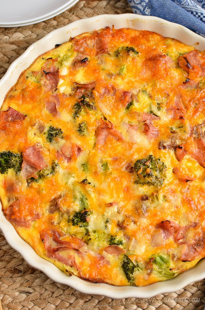 Syn Free Ham and Broccoli Quiche | Slimming Eats ...