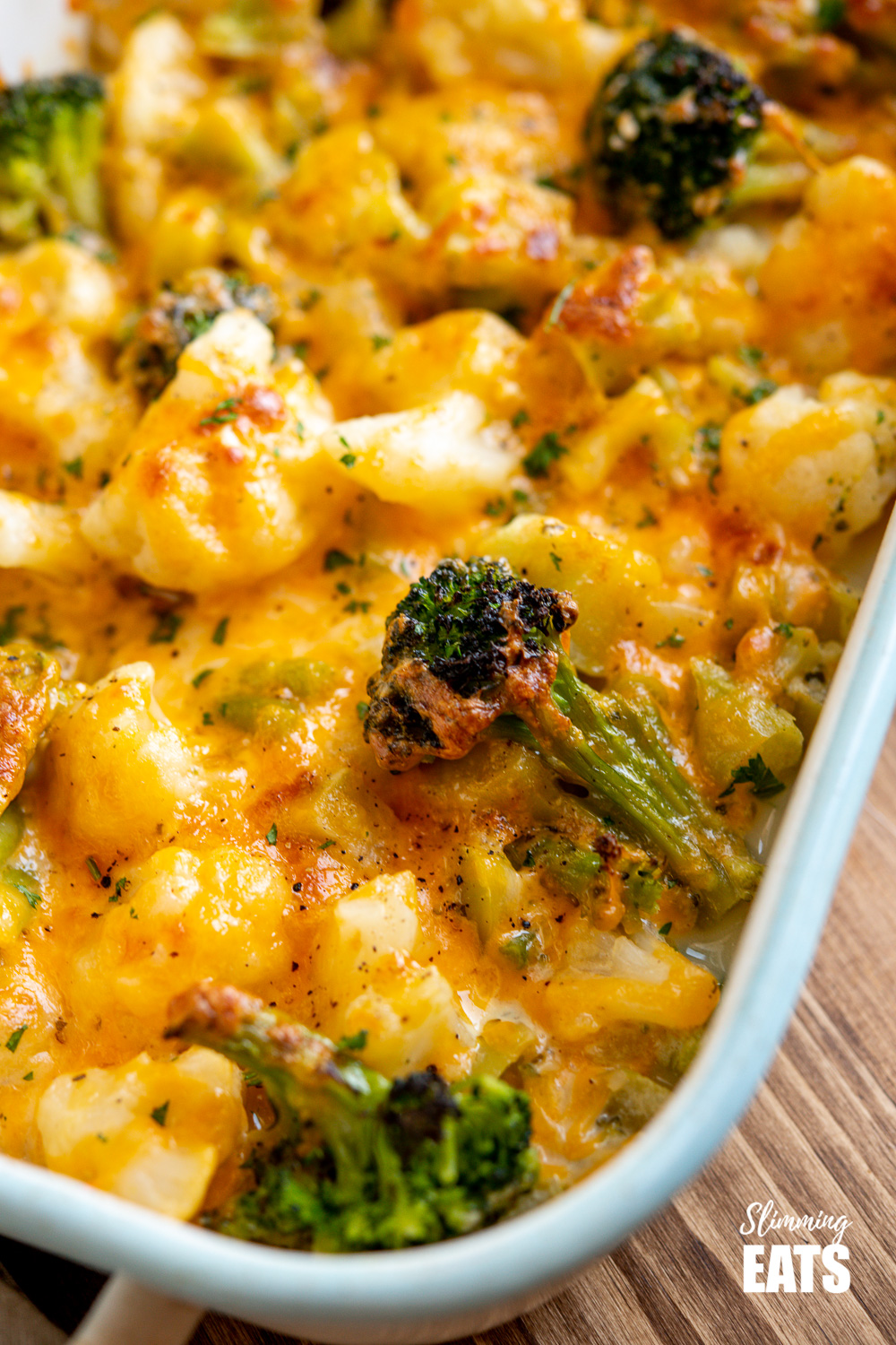 close up of Creamy Cheesy Vegetable Bake