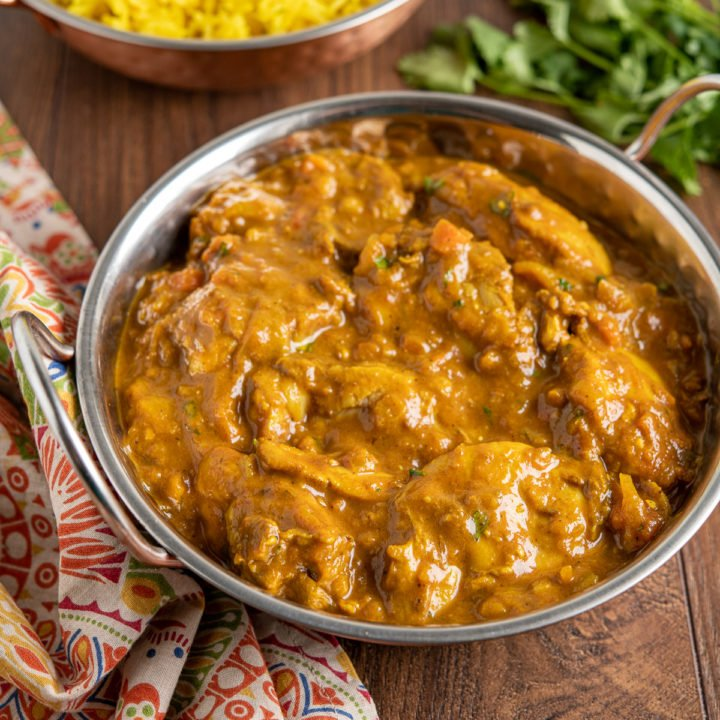 Chicken Dupiaza with Pilau Rice