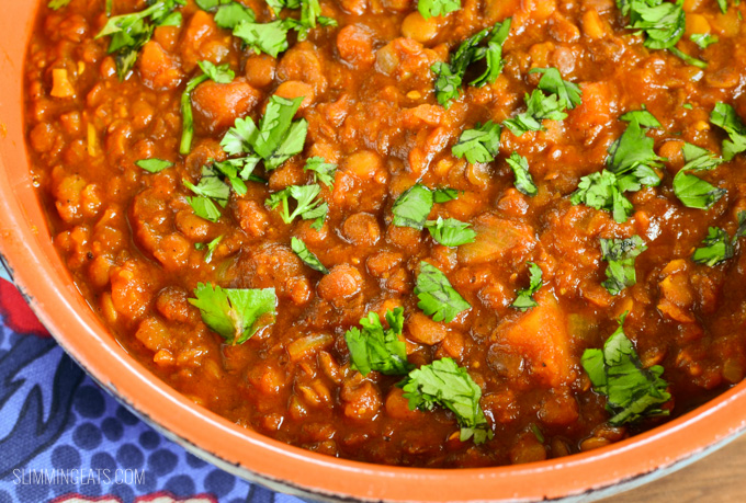 Slimming Eats Roasted Butternut Squash and Lentil Curry - gluten free, dairy free, Slimming World and Weight Watchers friendly