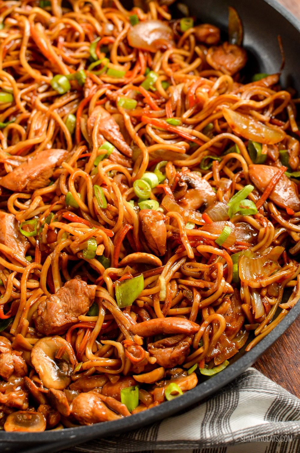 Ginger Chicken With Mushrooms And Noodles Slimming Eats