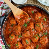 Lamb Meatballs with a Spicy Tomato Sauce
