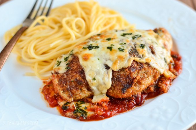 Slimming Eats Chicken Parmesan - Slimming World and Weight Watchers friendly