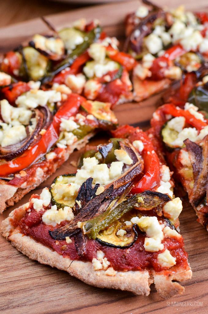 Syn Free Roasted Vegetable Feta Pizza   Slimming Eats ...