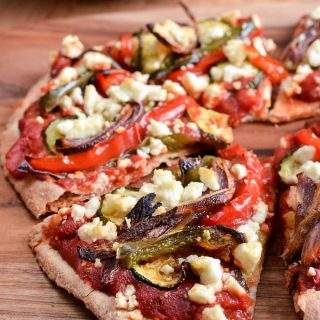 Syn Free Roasted Vegetable Feta Pizza
