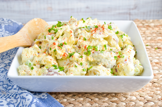 Slimming Eats - Syn Free Potato Salad - gluten free, vegetarian, Slimming World and Weight Watchers friendly