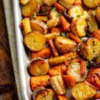 Rosemary Roasted Potatoes, Carrots and Onion
