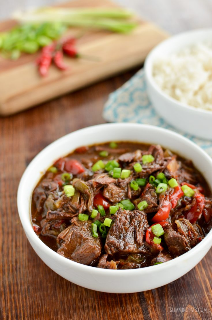 Low Syn Slow Cooked Spicy Asian Beef