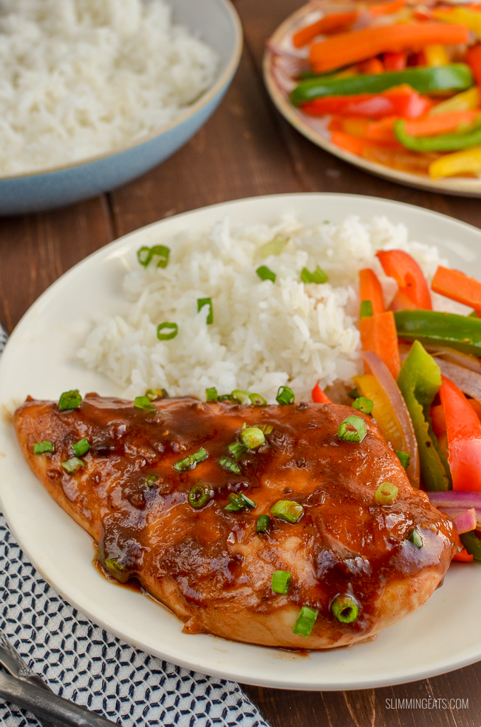 Fuss-free Chinese Barbecue Chicken - a great dinner that is perfect for the whole family. 2.5 SYNS  3 Weight Watchers Smart Points   303 CALORIES - gluten free, dairy free, Slimming World and Weight Watchers friendly