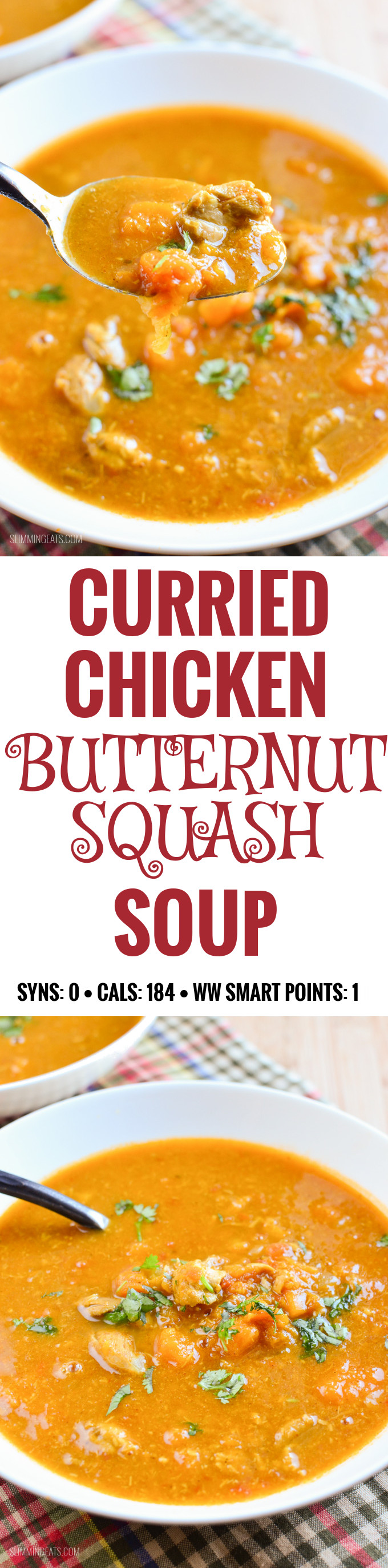 Curried Chicken and Butternut Squash Soup - Slimming Eats