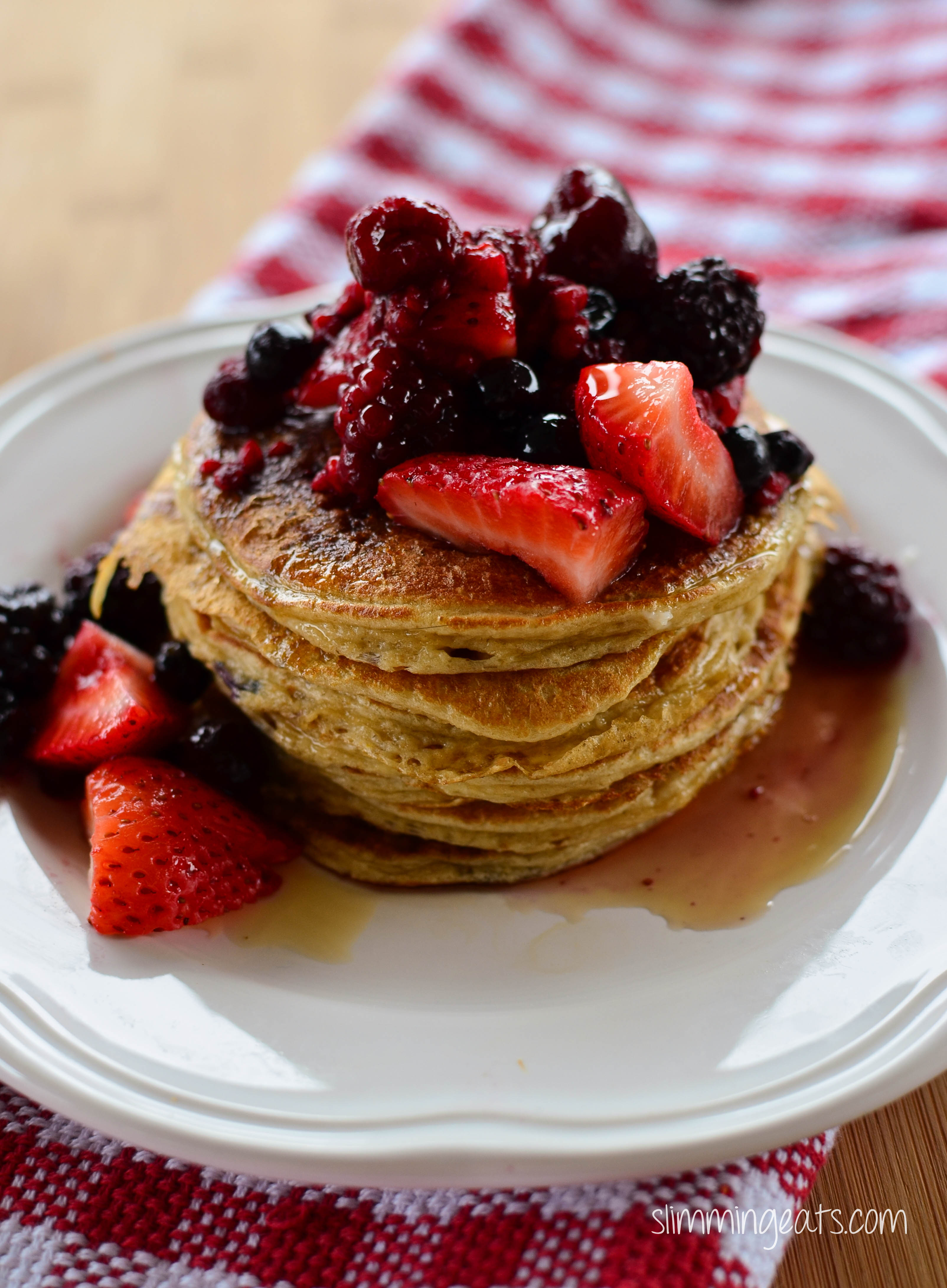 Slimming Eats American Style Pancakes - gluten free, dairy free, vegetarian, Slimming World and Weight Watchers friendly